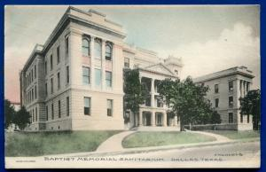 Dallas Texas tx Baptist Memorial Sanitarium hospital old postcard