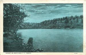 Bartlesville Oklahoma~Sunset on Rock Lake~Woolaroc~Frank Phillips Ranch~1920s