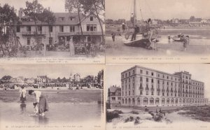 Hotel Regina Paris Plage L'Atlantic Beach 4x Antique Postcard s