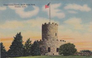 Iowa Clinton Observation Tower Eagle Point Park Curteich