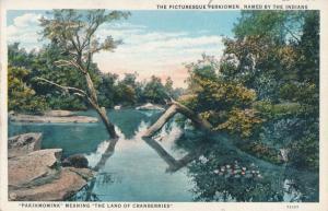 Picturesque Perkiomen Creek PA Pennsylvania Tributary of Schuykill River pm 1954