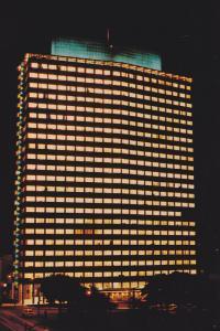 Night View, B.C. Electric Building, Head Office of the B.C. power Company, Va...