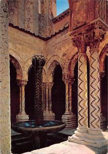 Italy Monreale Cloister from Benedictines Fountain Arabic
