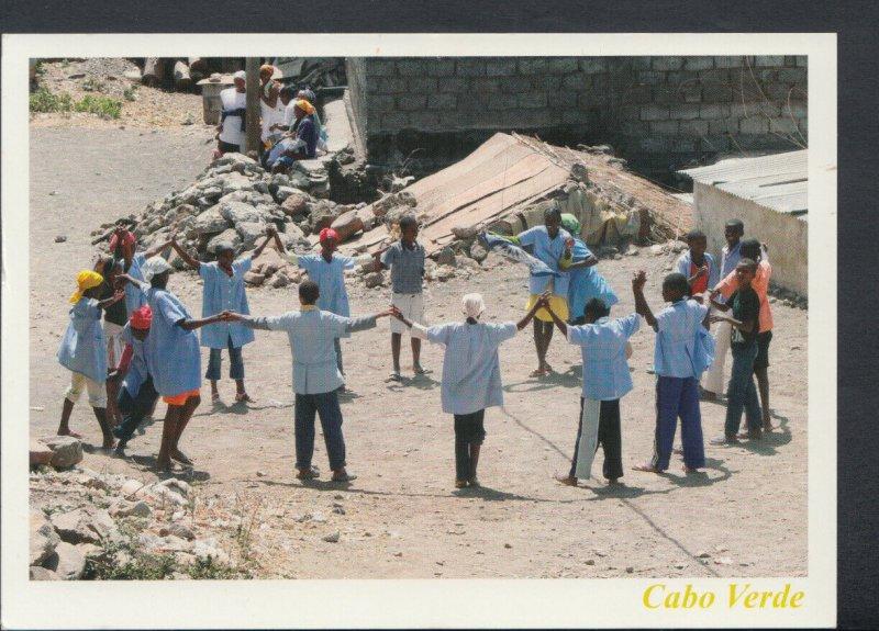 Cape Verde Postcard - Cabo Verde - Alunos Brincando Playing Pupil   T5062