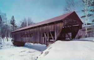 Winter View Albany Covered Bridge near Kancamagus Hwy White Mountains NH