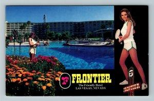 Las Vegas NV- Nevada, Frontier, The Friendly Hotel, Chrome Postcard