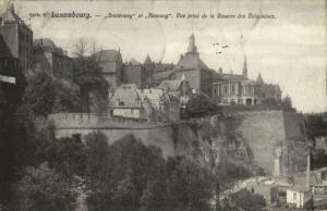 CPA Luxembourg Vue prise de la Caserne des Volontaires (30669)