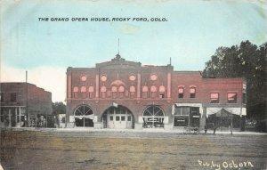 LP18   Rocky Ford Colorado Vintage Postcard Grand Opera House