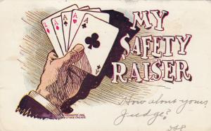 Playing Cards , My Safety Raiser , 1906