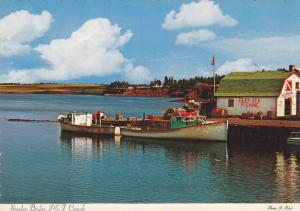 Fishing Boat, Harbour of Stanley Bridge, Prince Edward Island, Canada, 50-70´s