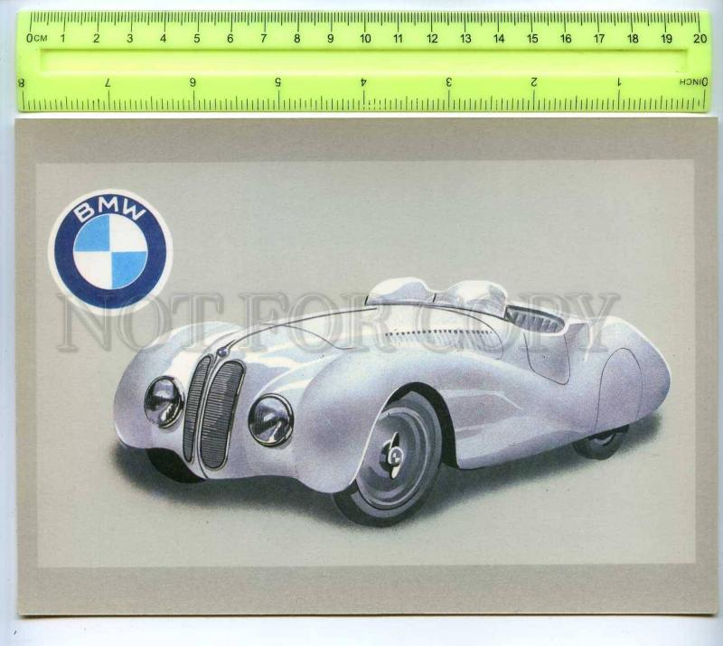 255503 LATVIA Tseplevich Retro sport car BMW-328 postcard