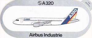 AIRBUS INDUSTRIE A320 VINTAGE AVIATION LABEL