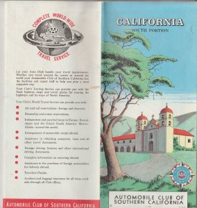 Auto Club of Southern California, Vintage Southern California Map