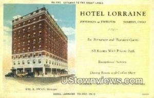 Hotel Lorraine Toledo OH Unused