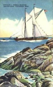 Gertrude L Thebauu Rounding Easter Point Gloucester MA 1952