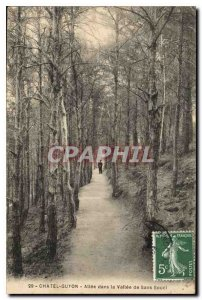 Old Postcard Chatel Guyon Allee in the Vallee de Sans Souci