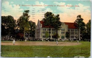 Wooster, Ohio Postcard L.H. Severance Gymnasium, University of Wooster 1913