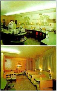 Weslaco, Texas Postcard KENO CAFÉ Restaurant 2 Views Highway 83 Roadside c1950s