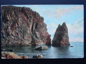 Isle of Man PORT ST. MARY Sugar Loaf Rock - Old Postcard by Vannin Veg Veen