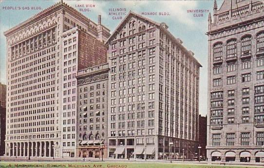 A Magnificent Row On Michigan Avenue Chicago Illinois 1913