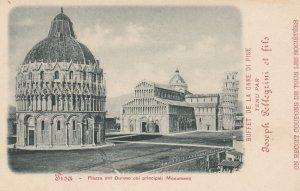PISA ,  Toscana , Italy , 00-10s : Plaza del Duomo ; Ad on back ; Train Menu