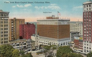 COLUMBUS, Ohio, 1900-10s; View from State Capitol Dome, Deshler Hotel
