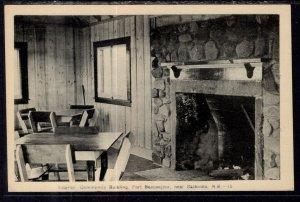 Interior Community Building,Fort Beausejour Near Sackville,New Brunswick,Canada