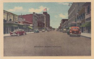 Montana Billings Broadway Main Street Street Scene sk3712
