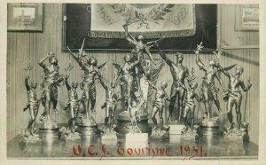 U.C.S. Tourisme 1931 cycling history trophy original real photo postcard