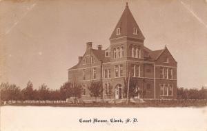 Clark South Dakota~County Court House~Fenced In~1905 Real Photo Postcard~RPPC