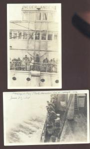 RPPC SS NEDERLAND NETHERLANDS BOAT SHIP HOLLAND VINTAGE REAL PHOTO POSTCARDS