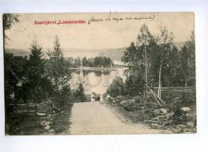 192272 FINLAND SAARIJARVI Vintage RPPC Petersburg RUSSIA 1909