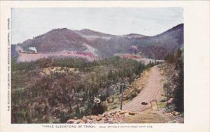 Train With Three Elevations Of Track Colorado Springs and Cripple Creek Short...
