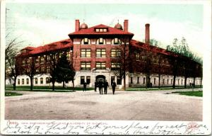 Ann Arbor MI~Engineers Take What They Learned Outside New Bldg~Phostint c1906 PC