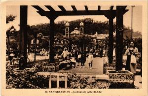 CPA Espagne SAN SEBASTIAN - Jardines de Alderi-Eder (303888)