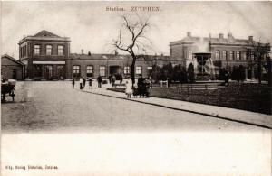 CPA ZUTPHEN Station NETHERLANDS (604633)