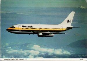 Monarch Airlines Boeing 737 Airplane Advertising Unused Postcard C5