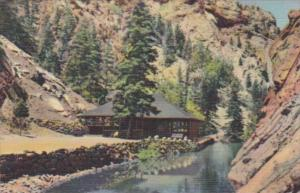 Colorado Colorado Springs Trout Pool and Pavilion At Seven Falls South Cheyen...