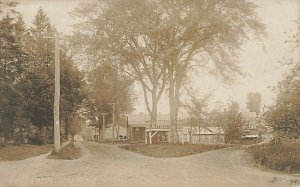 Eastford CT 1908 Dirt streets Meat market at The Fork Real Photo Postcard