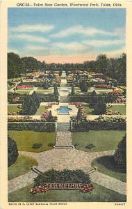 Rose Garden Woodward Park Tulsa Oklahoma OK Linen