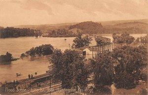 LPS98 Huntingdon Pennsylvania Aerial View Huntingdon 1889 Flood Scene Postcard
