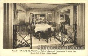 Ile de france,Salle a Manger de l' appartement Ship Ships, Interiors, Postcar...