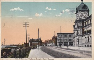SARNIA, Ontario, Canada, PU-1921; Post Office And Customs