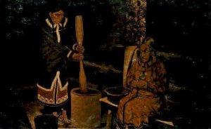 Log cabin exhibit Indian Unused