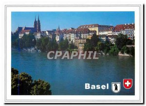 Postcard Modern Party am Rhein Basel Munster