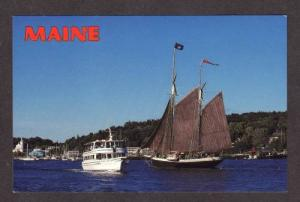ME Angelique Island Lady Boats BOOTHBAY HARBOR MAINE PC