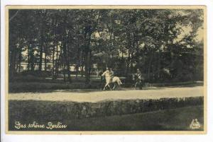 People riding horses in park, Das schone Berlin, Germany, PU-1936