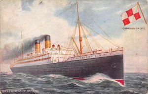 RMS Empress of Britain Canadian Pacific Line Ship Writing on back