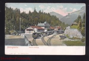 BRUNIGBAHN SWITZERLAND RAILROAD STATION BRUNIG TRAIN DEPOT VINTAGE POSTCARD