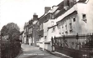 ENFIELD MIDDLESEX UK GENTLEMAN'S ROW PHOTO POSTCARD c1963